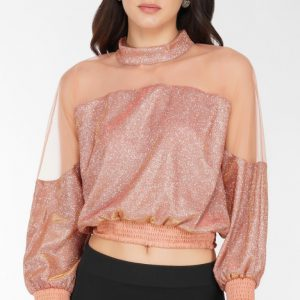 Party Wear Neck Band Top